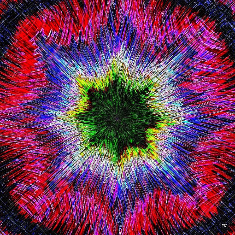 Intersecting Lines Digital Art - Kaleidomicro by Will Borden