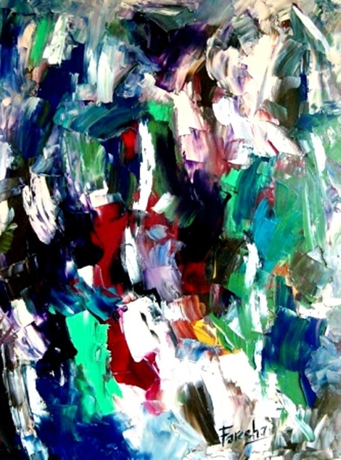 Abstract Painting - Kaleidoscope - Dream Of A Diverse Harmony by Fareeha Khawaja