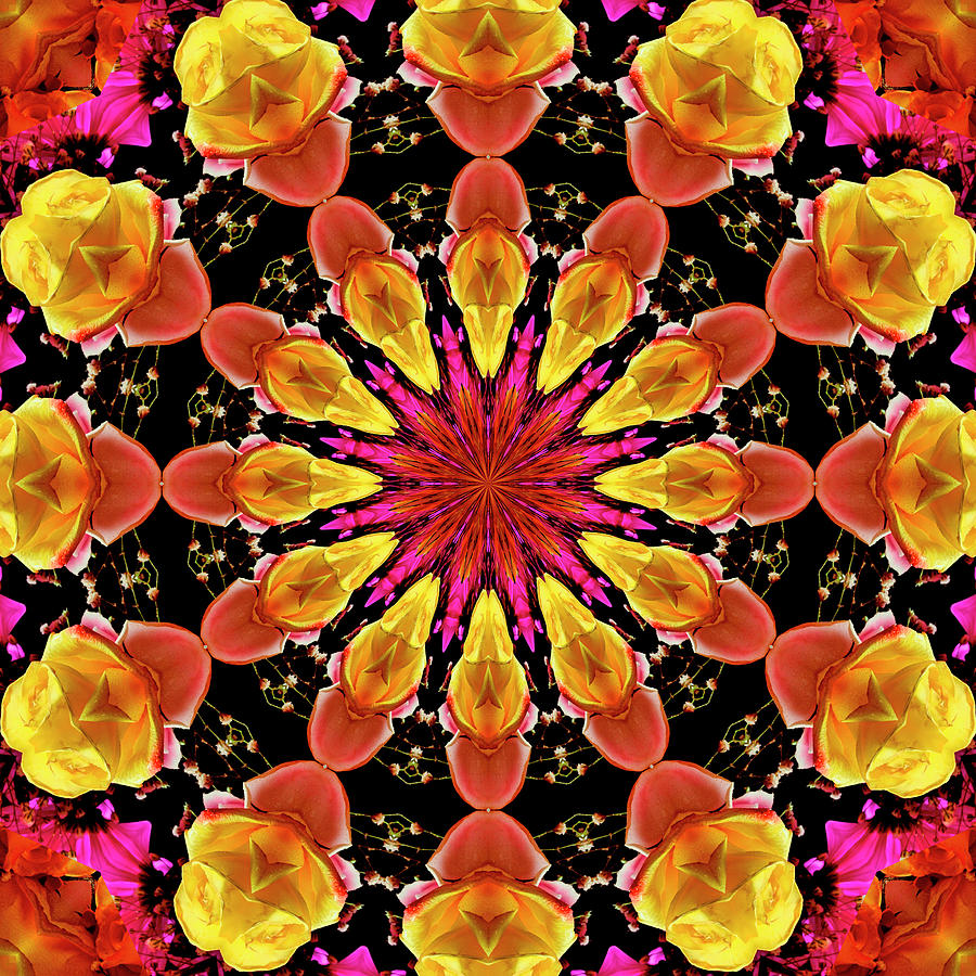 Color art kaleidoscope - Abstract Photograph Kaleidoscope Art I I By Laura Mountainspring