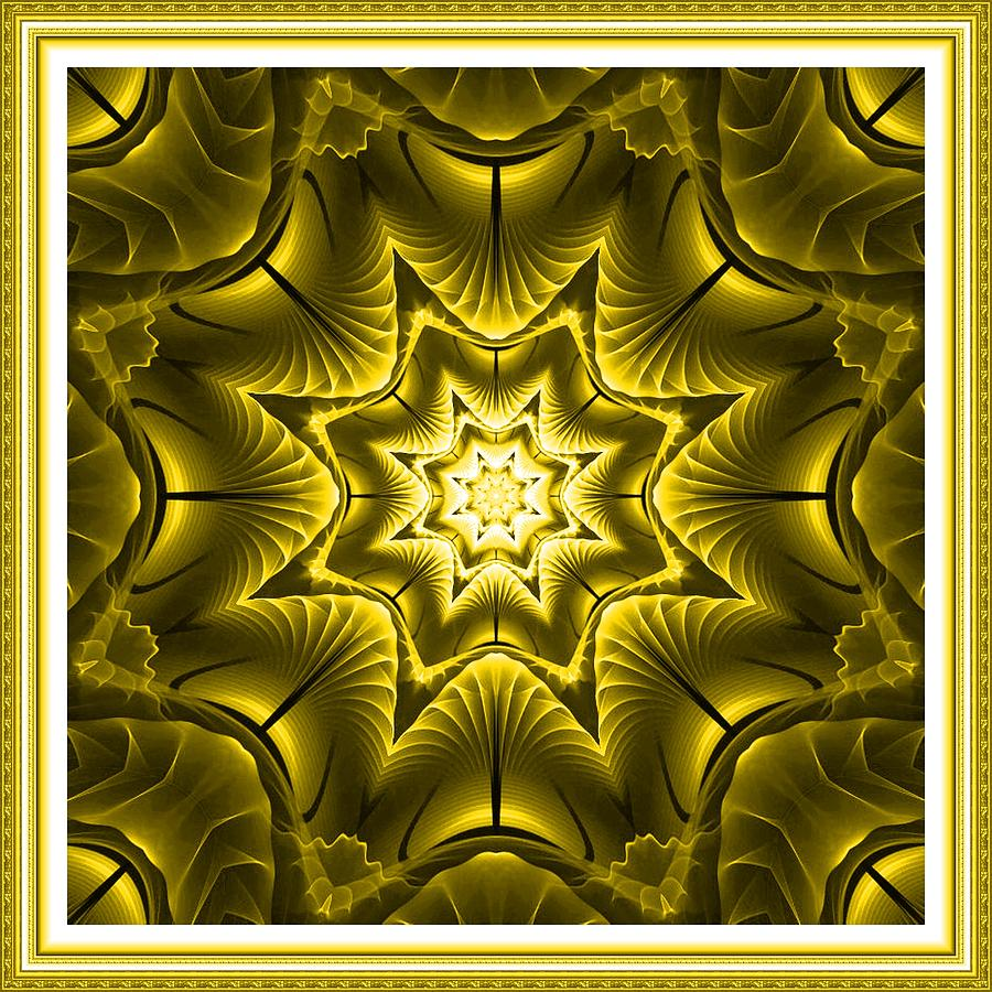 Kaleidoscope Fantasy In Yellow L A With Decorative Ornate Printed ...