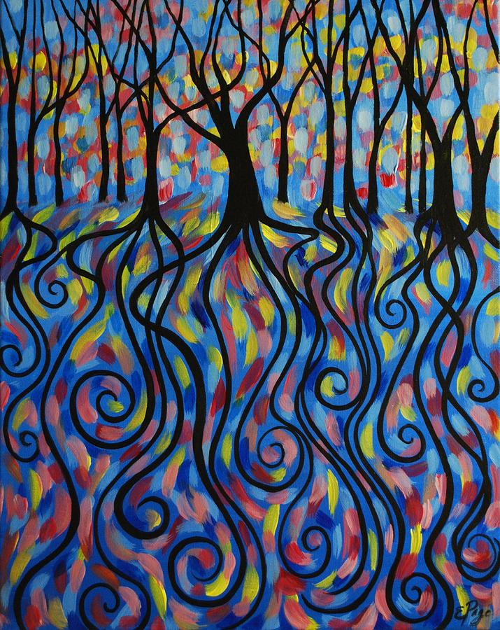 Kaleidoscope Painting - Kaleidoscope Forest by Emily Page