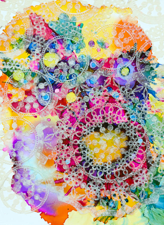 Abstract Painting - Kaleidoscope - B by Sandy Sandy