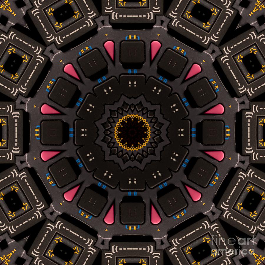 Calculator Mixed Media - Kaleidoscopic Calculator by Rolf Bertram