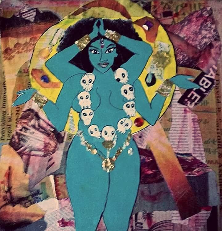 Hindu Mixed Media - Kali by Dele Akerejah