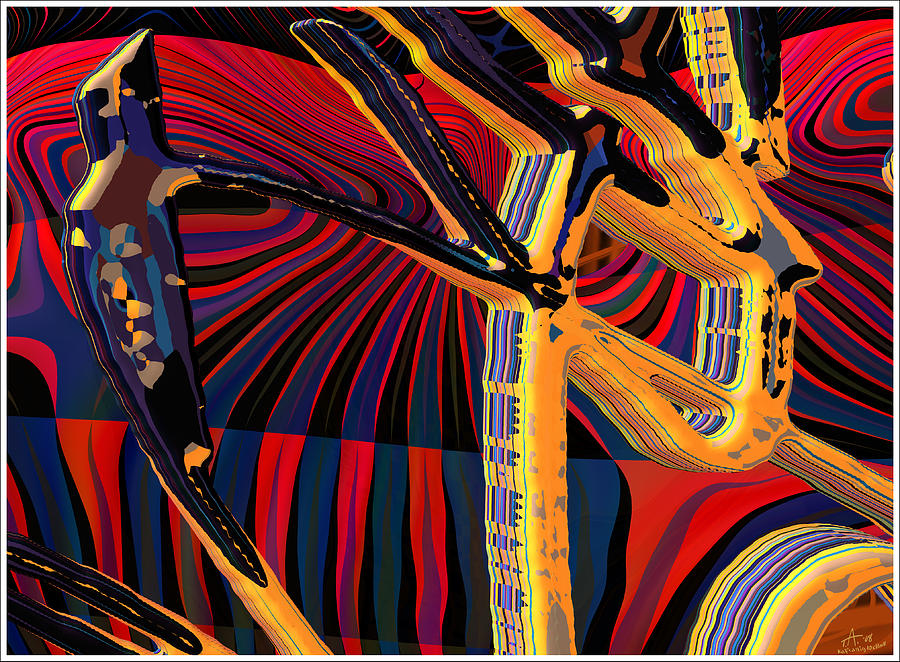 Kali-fa-callig10x11m8 Digital Art by Terry Anderson