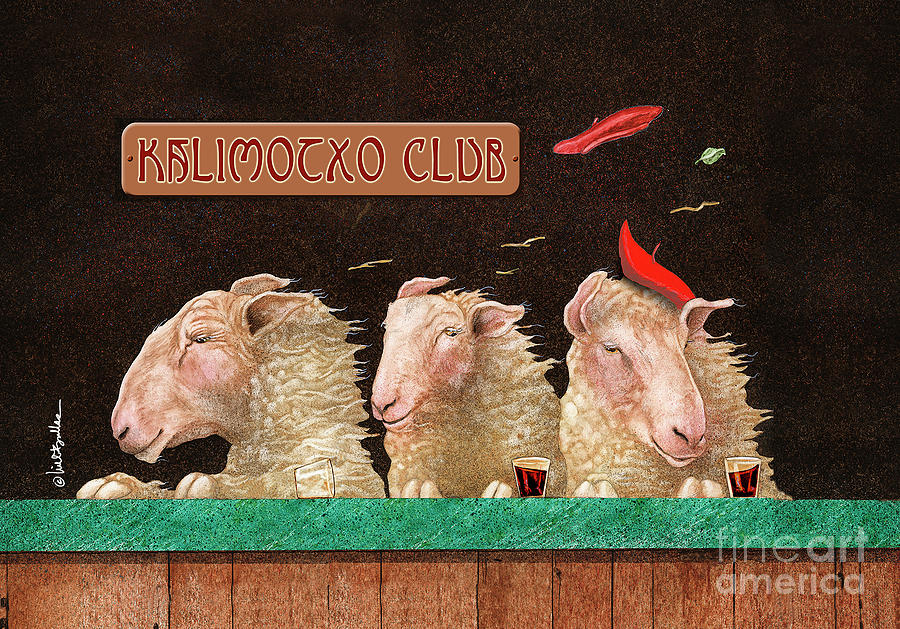 Will Bullas Painting - Kalimocho Club... by Will Bullas