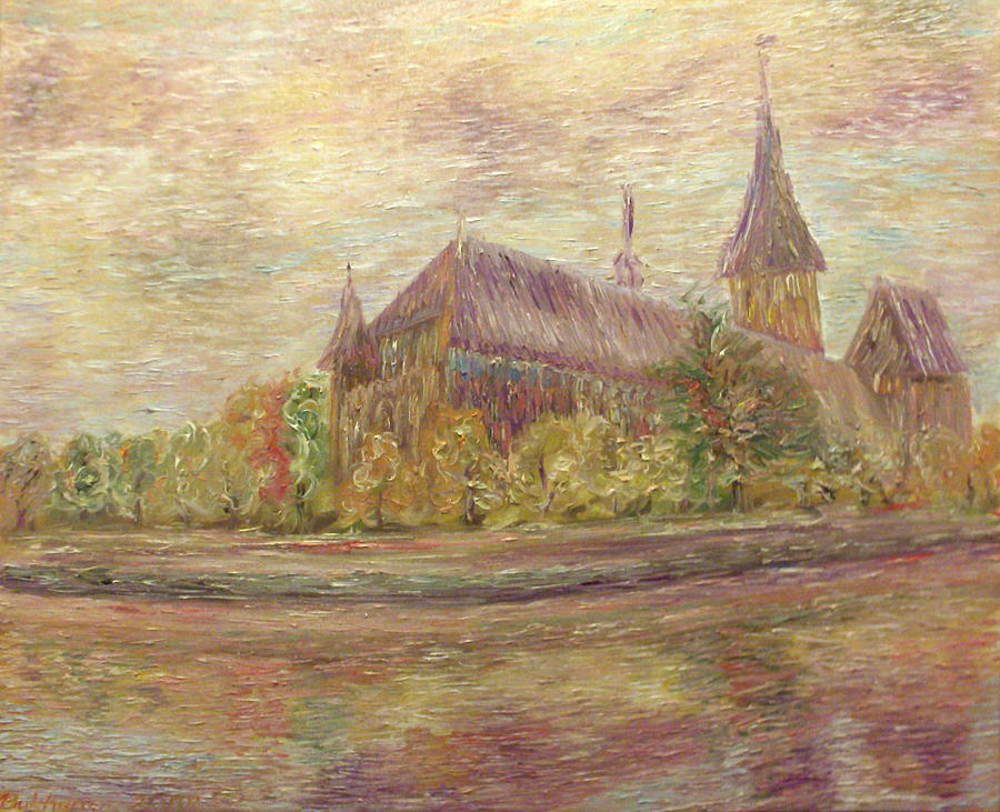 Cathedral Painting - Kaliningrad by Alexander Bukhanov