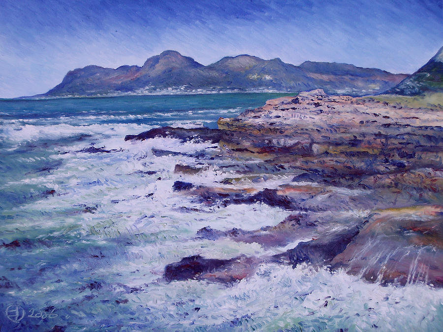 Impressionism Painting - Kalk Bay And Fish Hoek  Cape Town South Africa 2006  by Enver Larney