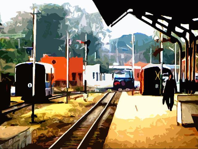 Kalka Photograph - Kalka Station by Padamvir Singh