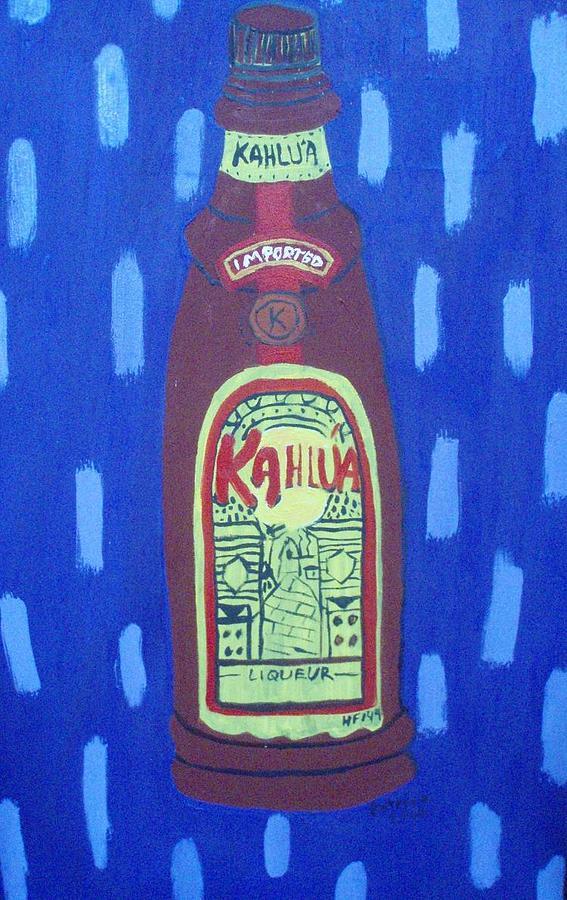 Booze Painting - Kalua by Patrice Tullai