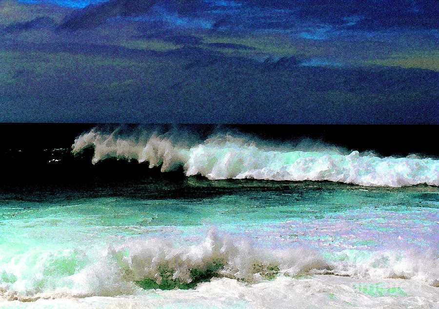 Waves Photograph - Kaluakoi Surf by James Temple