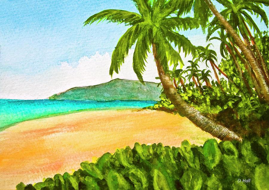 Kamaole Painting - Kamaole Beach Maui Hawaii Art Painting #349 by Donald k Hall