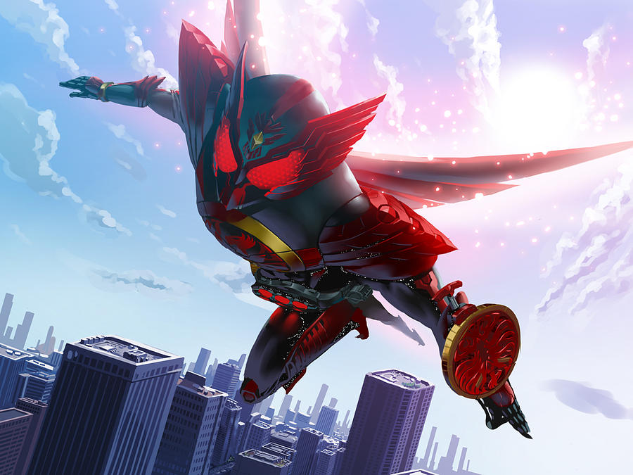 Kamen Rider Ooo by Rose Lynn