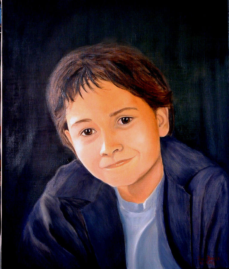 Portrait Painting - Kamron by Jodi Brody