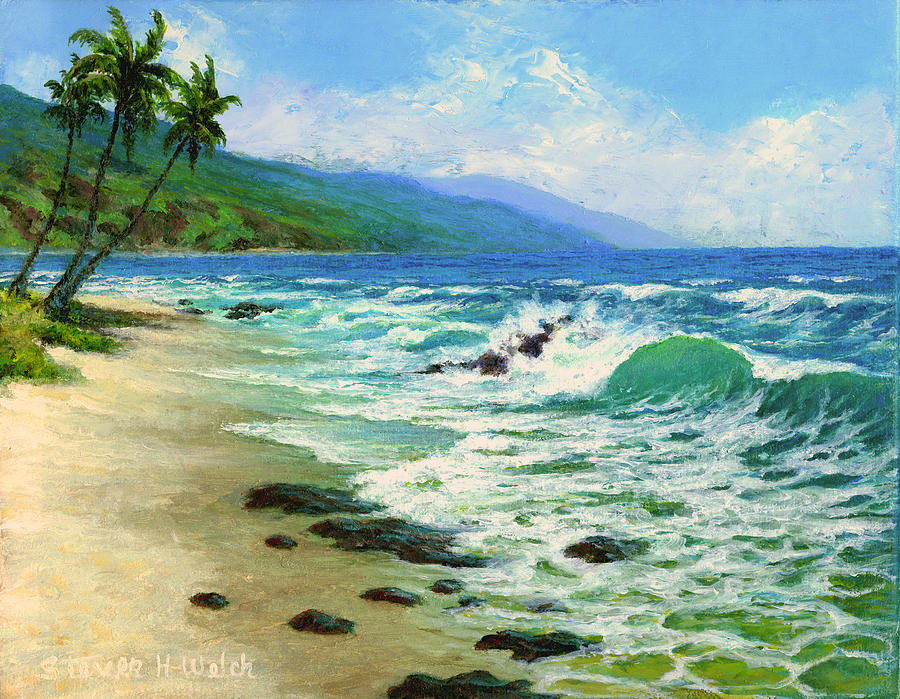 Seascape Painting - Kanaha Beach by Steven Welch