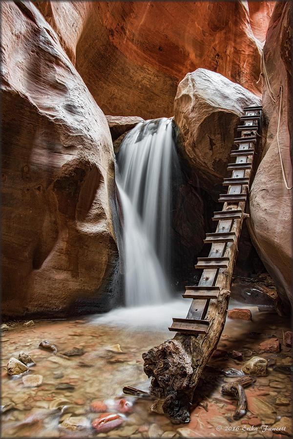 Waterfall Photograph - Kanarraville Falls by Erika Fawcett