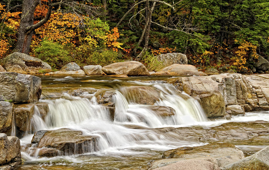 Waterfall Photograph - Kancamagus Cascades by Liz Mackney