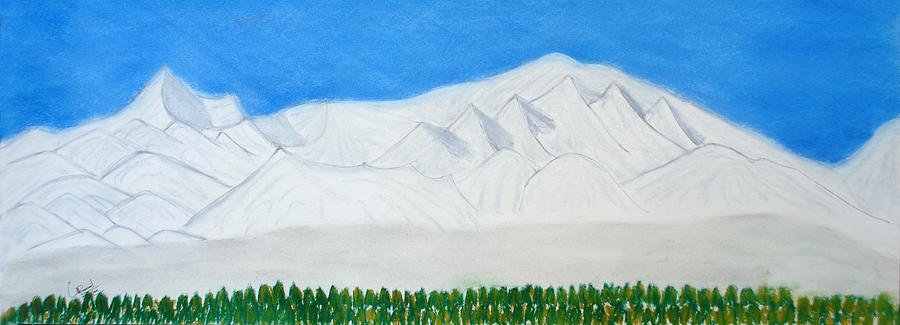Landscape Painting - Kanchanajonga by Prasad Setty