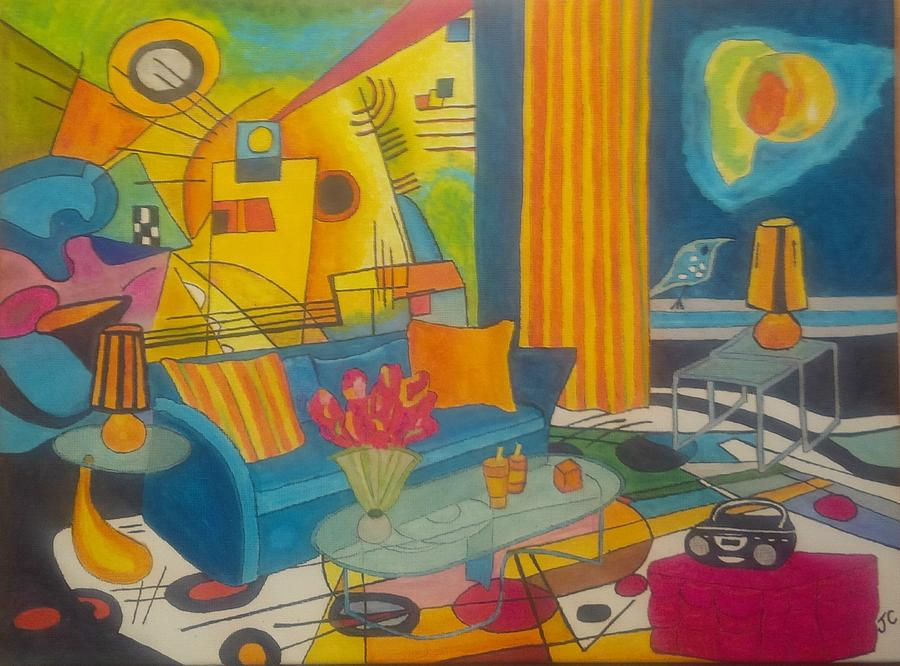 Kandinsky Painting - Kandinsky Living Room by John Cunnane
