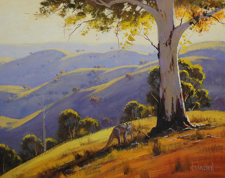 Kangaroo With Gum Painting