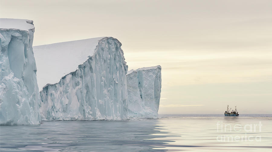 Greenland Photograph - Kangerlua by Janet Burdon