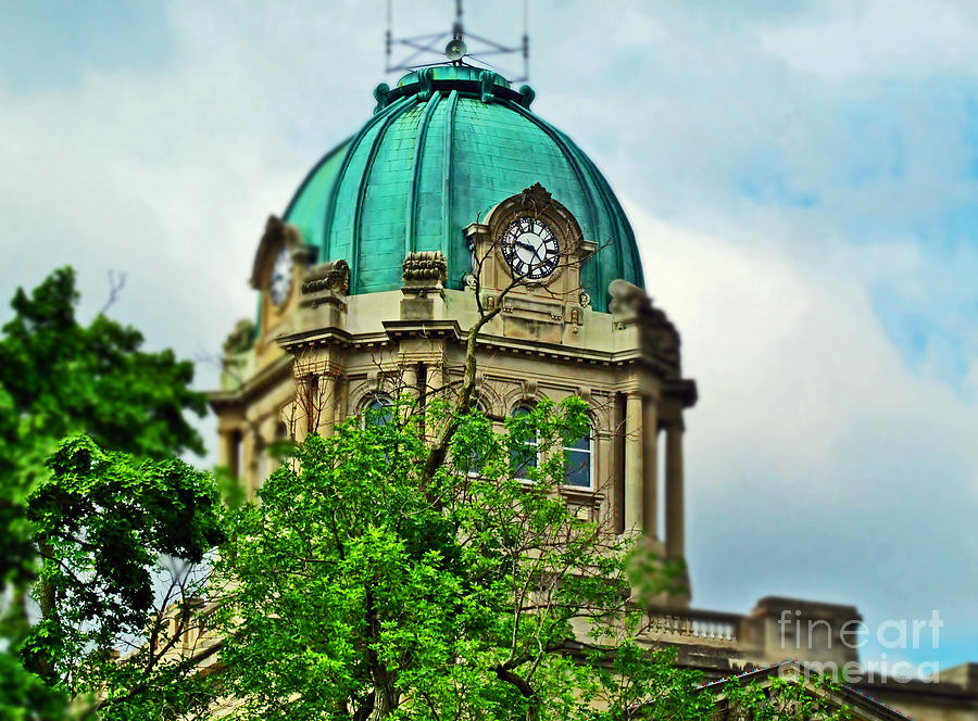 Kankakee Court House Clock Photograph