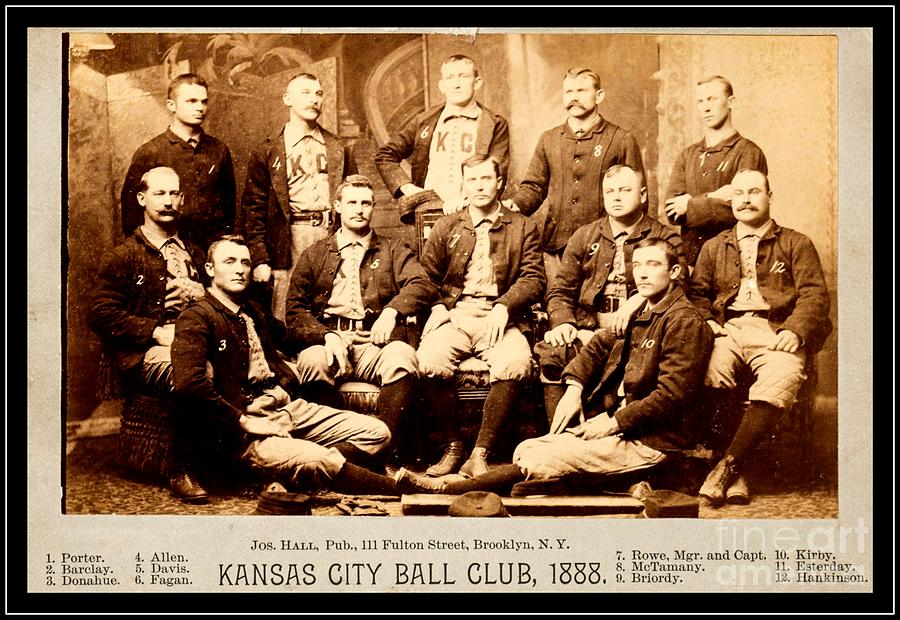 Baseball Photograph - Kansas City Baseball Club 1888 by Peter Ogden Gallery