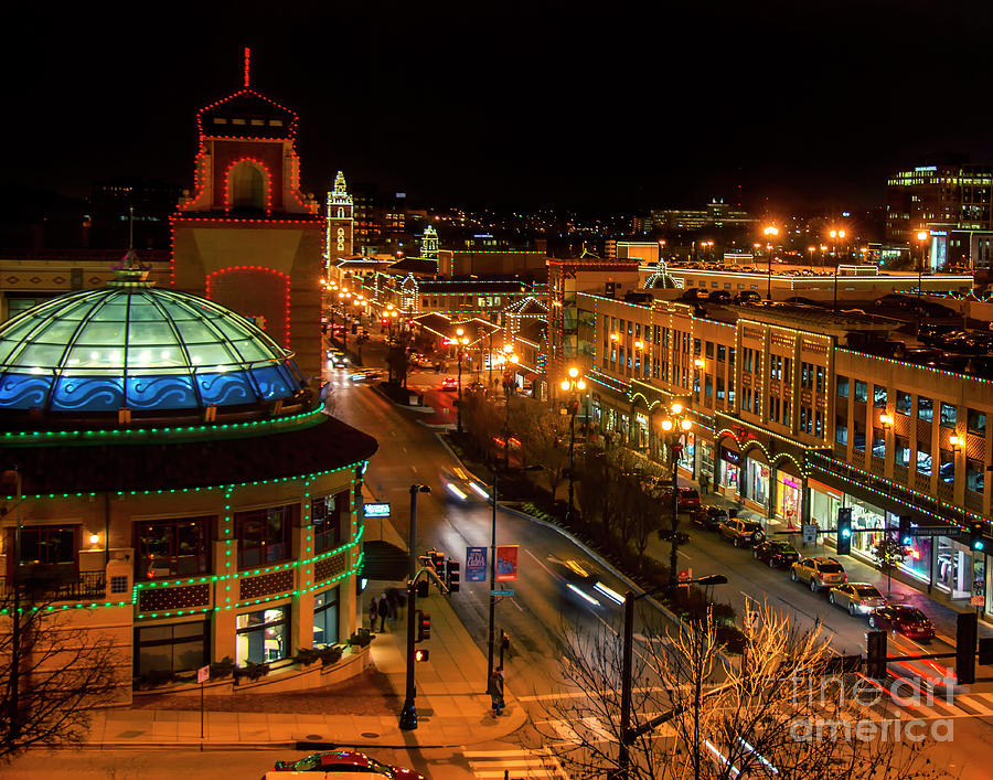 Kansas City Christmas Photograph by Carolyn Fox