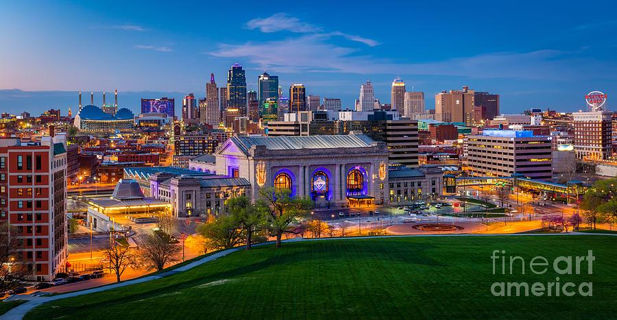 Kansas City Evening Panorama Photograph