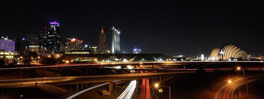 Kansas City Missouri Skyline Panoramic Photo by Alan Hutchins