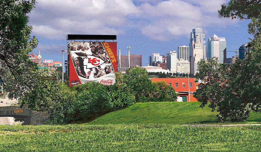 Landscape Photograph - Kansas City Sky Line by Steve Karol