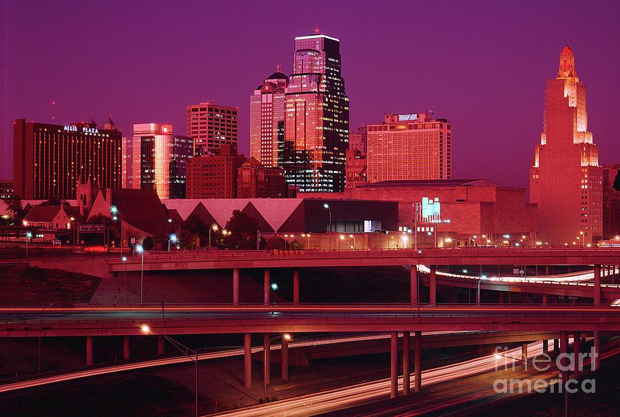 Kc Photograph - Kansas City Skyline 1991 by Gary Gingrich Galleries