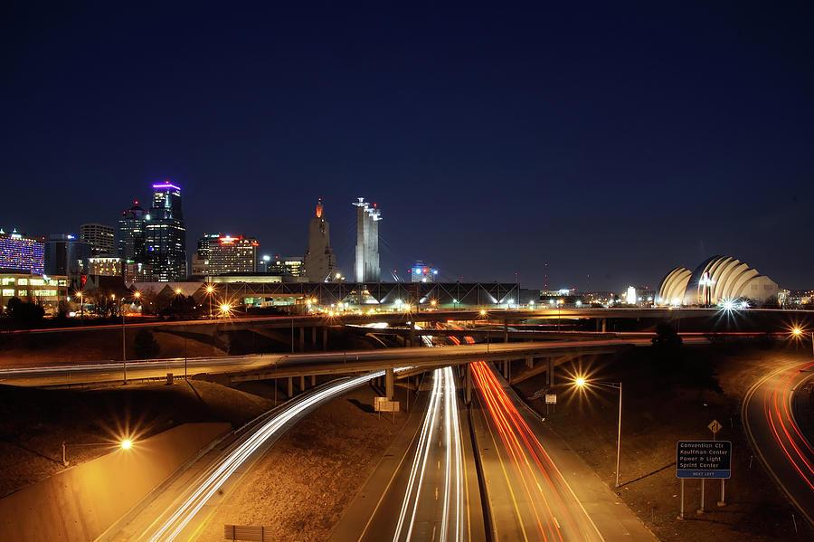 Kansas City Skyline at Night by Alan Hutchins