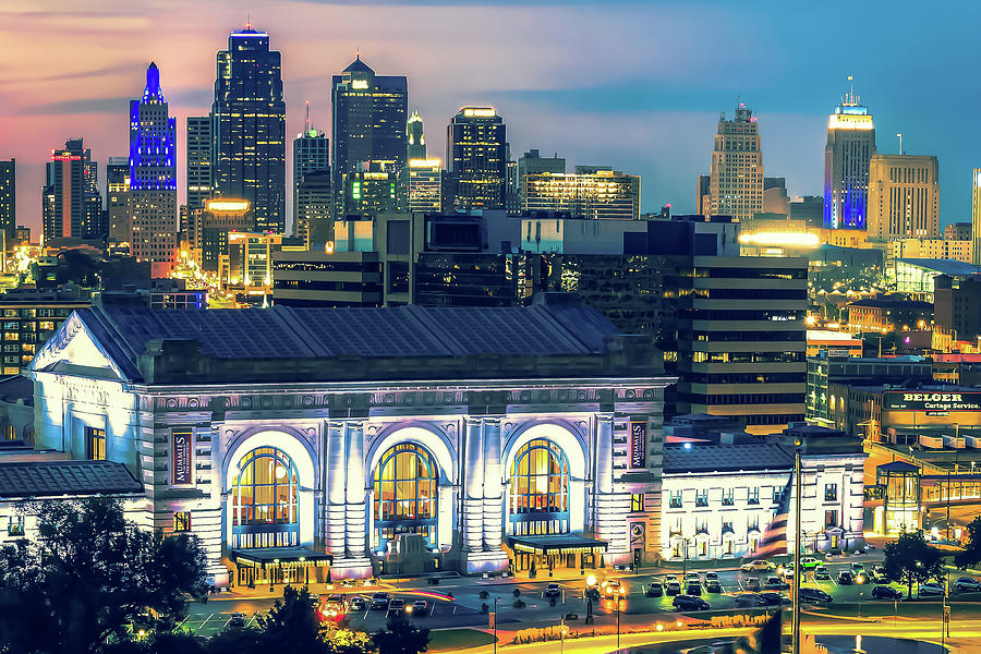 Kansas City Skyline over Union Station by Gregory Ballos
