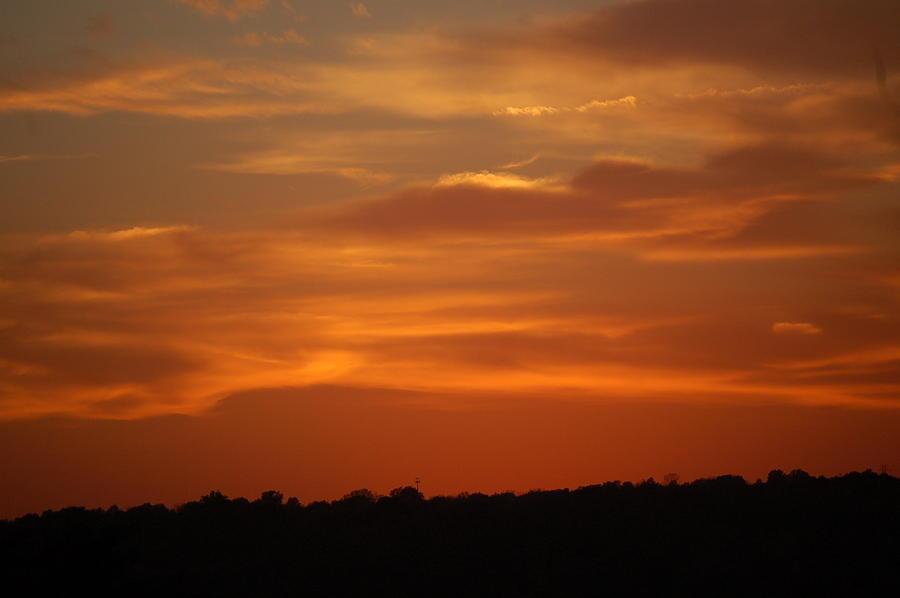 Kansas City Sunset Photograph by Christopher Butler