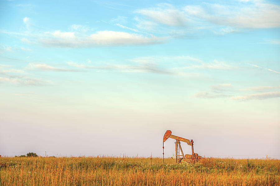 Pumpjack Photograph - Kansas Energy  by JC Findley