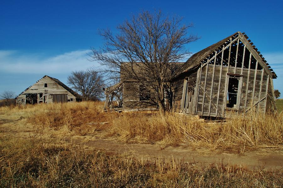 Kansas Farmhouse And Barn Photograph By Greg Rud