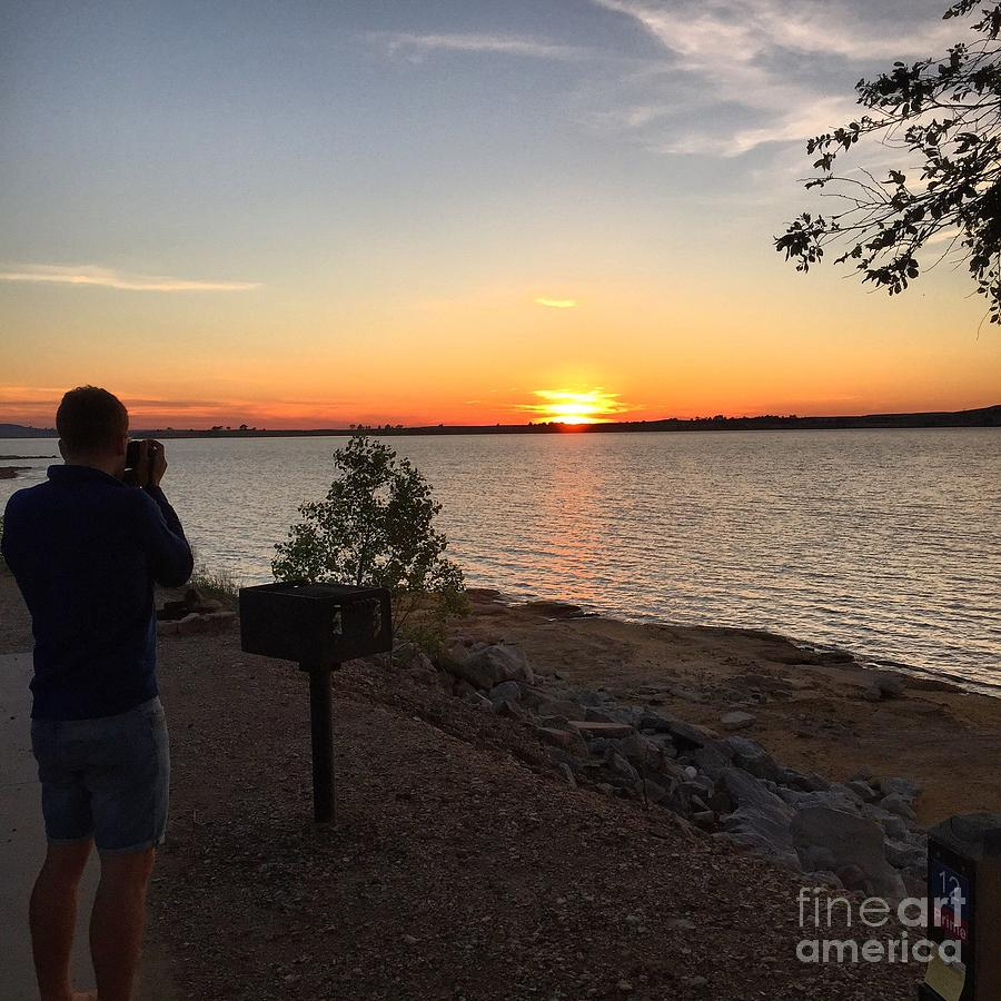 Lake Photograph - Kansas Lake by Parker ODonnell