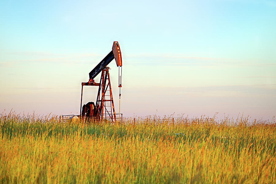 Pumpjack Photograph - Kansas Oil Production by JC Findley