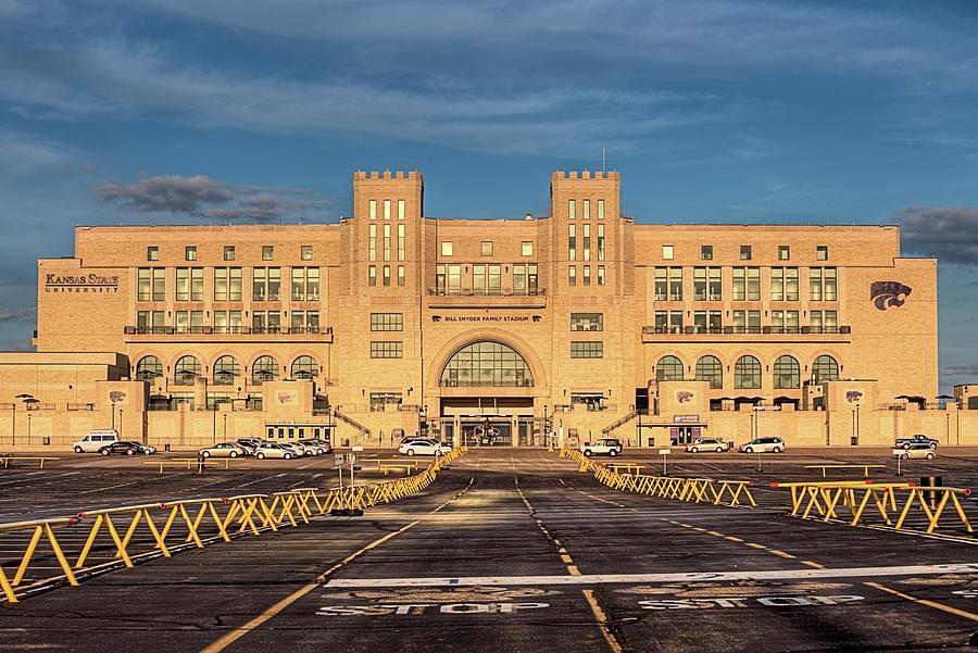 Bill Snyder Family Stadium Photograph - Kansas State Stadium by JC Findley