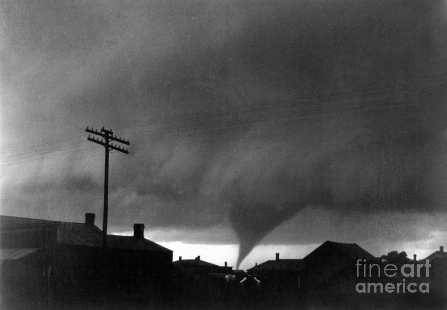 1902 Photograph - Kansas: Tornado, C1902 by Granger