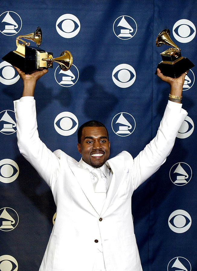 47th Annual Grammy Awards Photograph - Kanye West In The Press Room For 47th by Everett
