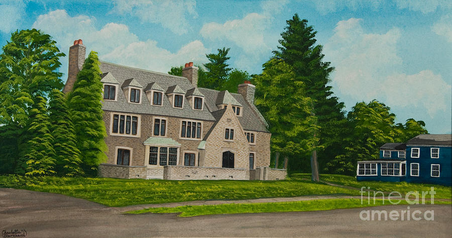 Frat House Painting - Kappa Delta Rho North View by Charlotte Blanchard