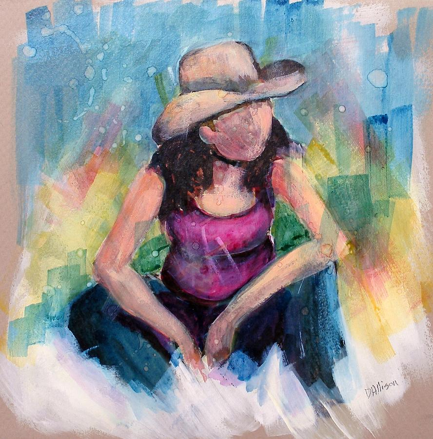 Abstract Painting - Kara by Deborah Allison