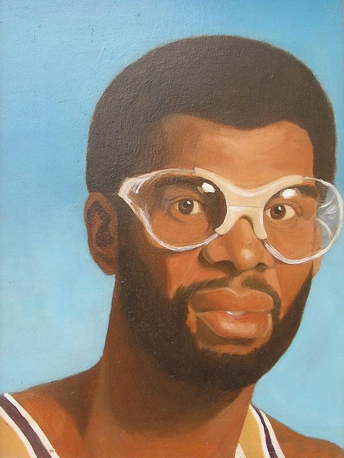 Sports Portraits Painting - Kareem by Nigel Wynter