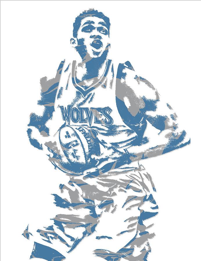 Karl Anthony Towns Minnesota Timberwolves Pixel Art 9 Mixed Media By Joe Hamilton