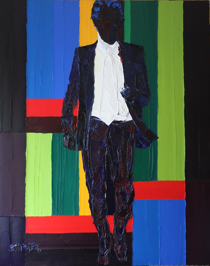 Karl Lagerfeld Painting by Valerie Catoire