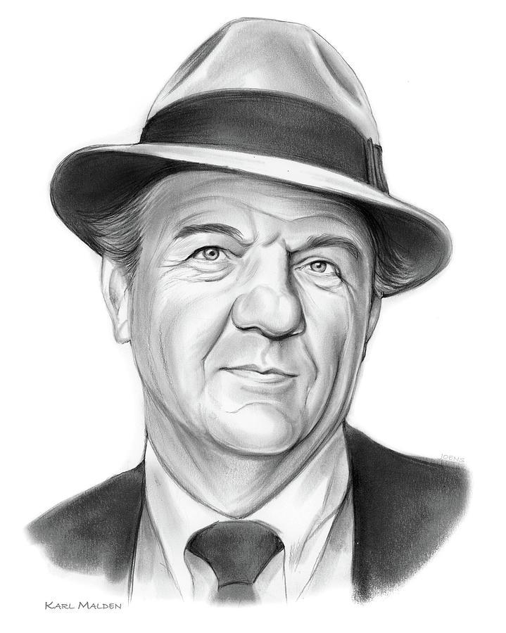 Karl Malden Drawing