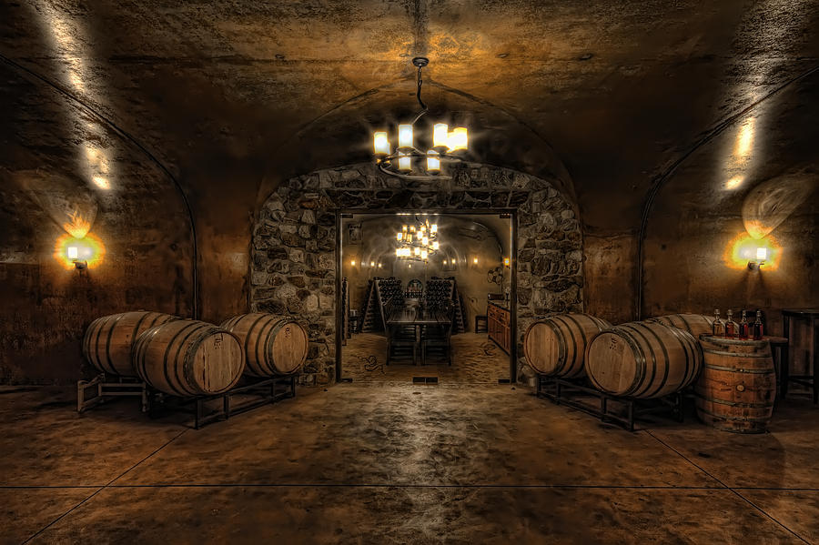 Hdr Photograph - Karma Winery Cave by Brad Granger
