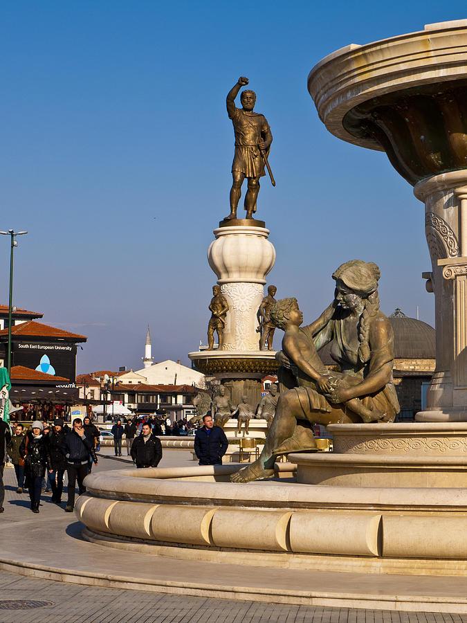 Macedonia Photograph - Karpos Rebellion Square by Rae Tucker